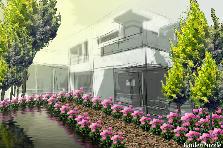 Projekt ogrodu:nowoczesny dom