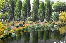 Projekt ogrodu:ogród nad wodą