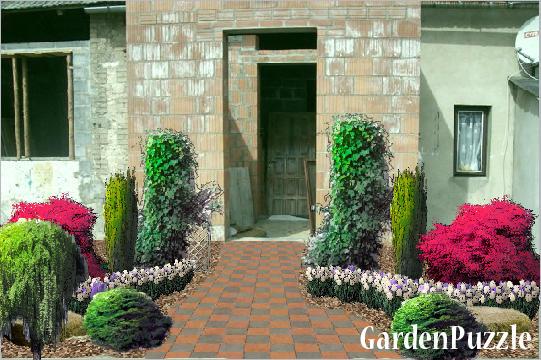 Projekt ogrodu:projekt wejścia do domu - Wiosna