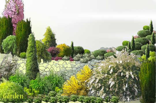 Projekt ogrodu:ogród na skarpie - Wiosna