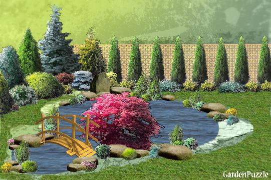 Gardenpuzzle Projekt Oczko Wodne M