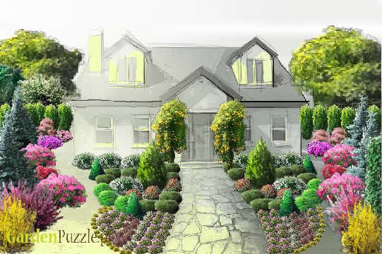 Ogród Przed Domem Gardenpuzzle Projektowanie Ogrodów W Przeglądarce