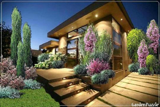 taras z schodkami - GardenPuzzle - projektowanie ogrodów w