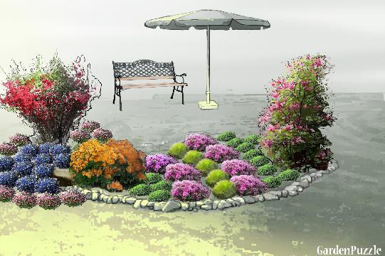 Projekt ogrodu:Mały skalniak - Wiosna
