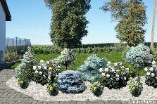 Projekt ogrodu:na biało