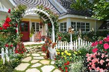 Projekt ogrodu:moj wymarzony domek...