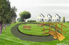 Projekt ogrodu:oczko wodne