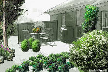 Projekt ogrodu:Wiosna w bieli