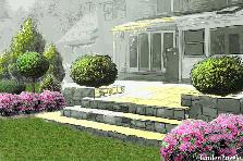 Projekt ogrodu:Beautiful garden in stil american