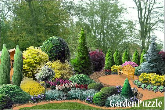 Ogr 243 D Pomysł 4 Gardenpuzzle Projektowanie Ogrod 243 W W