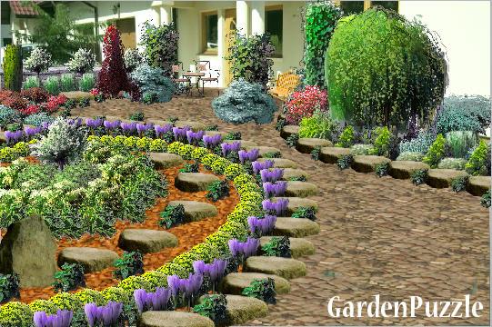 różany ogród - GardenPuzzle - projektowanie ogrodów w przeglądarce