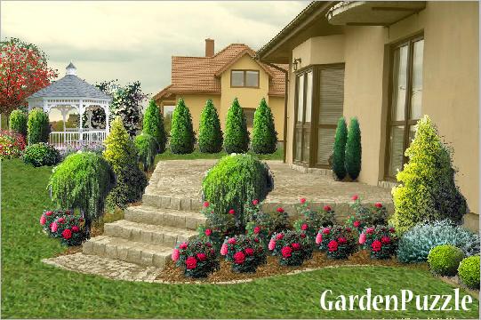 PRZY TARASIE - GardenPuzzle - projektowanie ogrodów w przeglądarce