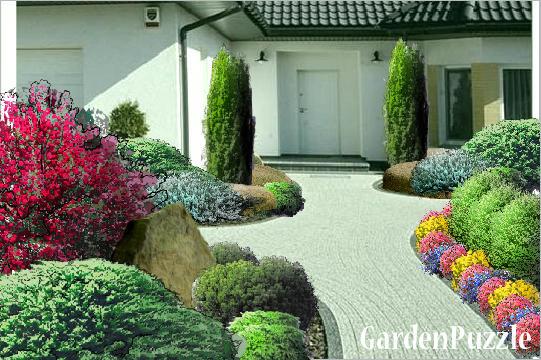 Gardenpuzzle Projekt Ogród Przed Domem